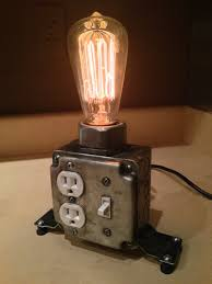 view in gallery desk lamp with working plugs from martybelkdesigns on