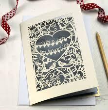 laser cut invitations personalised papercut wedding invitation by pogofandango