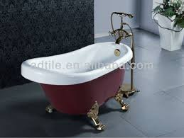buy small size colorful free standing acrylic baby bathtub