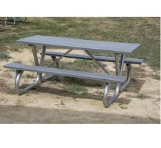rectangular picnic tables metal wood concrete recycled plastic