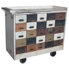 Multi Drawer Storage Cabinet Vintage Industrial Hamilton Wood Flat File Multi Drawer Storage