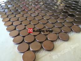 penny round mosaic tile smmt020 gold metal mosaic wall tiles