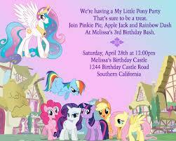 birthday invitation template printable birthday invites latest my little pony birthday invitations
