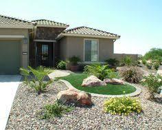 Front Yard Desert Landscape Mediterranean Exterior Desert Landscaping Ideas For Front Yard Outdoors Home Ideas