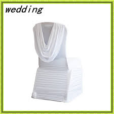 Chair Covers Cheap Aliexpress Com Buy Marious White Ruffled Chair Cover Ruched