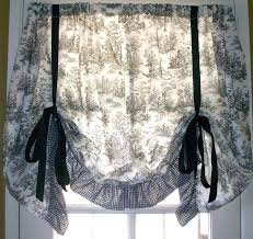 Roman Shades Black - fresh toile roman shades and ivory and black kitchen with black