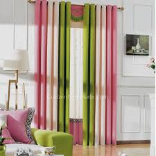 Multi Color Curtains Pink And Green Curtains Bedroom Blackout Curtains