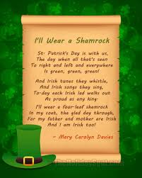 poems for st patrick u0027s day