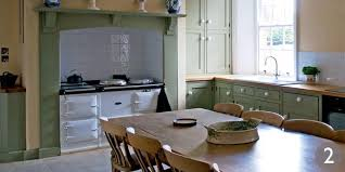 Aga Kitchen Designs Classic Painted Kitchen With Aga Painted Cabinets And Central