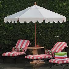 Frontgate Patio Umbrellas Seaside Scallop Peony Designer Umbrella Frontgate