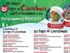 abc family 25 days of 2015 schedule abc family