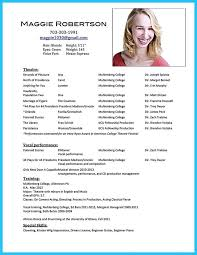 Acting Resume Special Skills Actors Resume Example Resume Example And Free Resume Maker