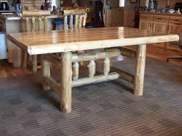 Log Dining Room Table Dining Tables Forest Log Furniture U0026 Railing