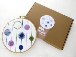 embroidery sler kit modern embroidery kit diy wall hanging