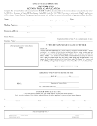 new mexico notary public application form u2013 notary public near me