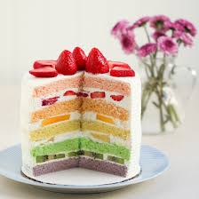 thirsty tea chinese bakery rainbow cake