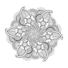 colouring pages mandala printable flower coloring page by on best