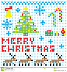vector christmas pixel art royalty free stock photo image 27424115