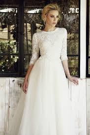 modest wedding dresses with 3 4 sleeves 3 4 sleeve wedding dress 84 about wedding dresses