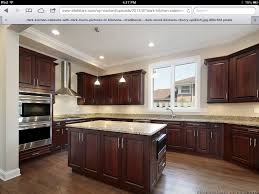 Kitchen Cherry Cabinets by Kitchen Floor Dark Wood Floors In Kitchen Within Striking Hickory