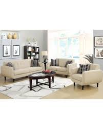 bargains on mid century modern design ivory living room collection