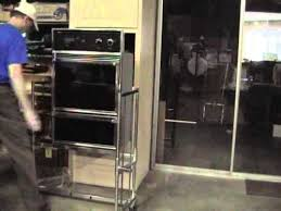 how to install a wall oven in a base cabinet lifting alldolly used to install built in oven youtube