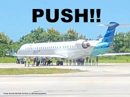 Garuda Indonesia Push Folks Garuda Indonesia Flight Misses Turn After Landing