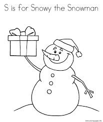snowy the snowman alphabet 5f2e coloring pages printable