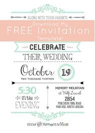 pages invitation templates free printable wedding invitation
