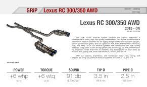 lexus is exhaust lexus rc 300 350 15 ark performance exhaust grip avs