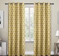 Curtain Pairs Sundress Lattice Pattern Window Curtain Set 96 Inch Panel Pairs