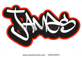 8 best images of cool graffiti name james james name bubble
