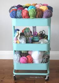 ikea wheeled cart ikea raskog crochet cart repeat crafter me