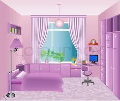 Children S Room Interior Images Illustration Of The Interior Children U0027s Room In Pink Stock