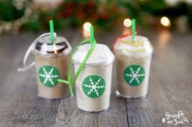 diy frozen coffee mix ornaments sprinkle some