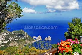 stunning capri italy wallpaper wall mural wallsauce usa save your design for later