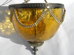 Yellow Glass Ceiling Light Ceiling Light Fixtures With Amber Glass Globes Vintage Lighting