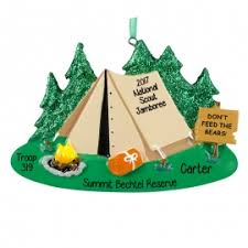 boy scout national jamboree souvenir ornament personalized