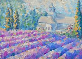 lavender cypress lilac field pink flowers italy landscape