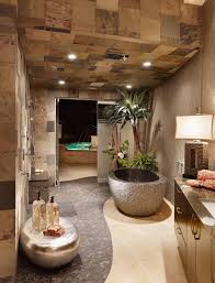 Bathroom Pedestal Sink Storage Cabinet by Outdoor Luxury Bathroom Blue Bathtub White Rug On Wooden Floor