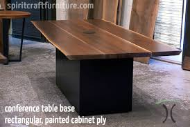 Live Edge Conference Table Table Legs And Bases For Hardwood Slab Table Tops