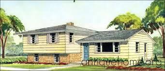 Small Split Level House Plans Split Level Homes Plans 1960s So Replica Houses 1960 House
