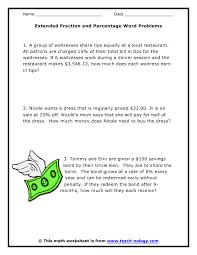 percentage word problems worksheets worksheets