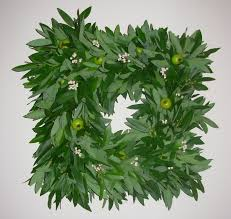 Home Interiors Green Bay Accessories Exquisite Round Green Bayleaf Wreath Hanging Decor