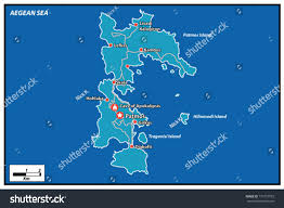 Greece Islands Map by Patmos Island Vector Map Greece Stock Vector 177773555 Shutterstock