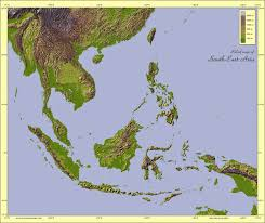 Southwest Asia Physical Map by Physical Maps Of Southeast Asia Free Printable Maps