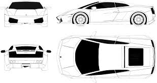 car lamborghini drawing lamborghini gallardo lp550 blueprint download free blueprint for
