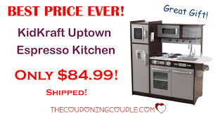best price kidkraft uptown espresso kitchen only 84 99