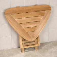 Teak Benches For Showers Wall Mounted Teak Wood Folding Shower Seat Contemporary Shower