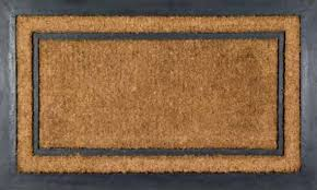 york rectangle rubber back coir doormat coco mats n more